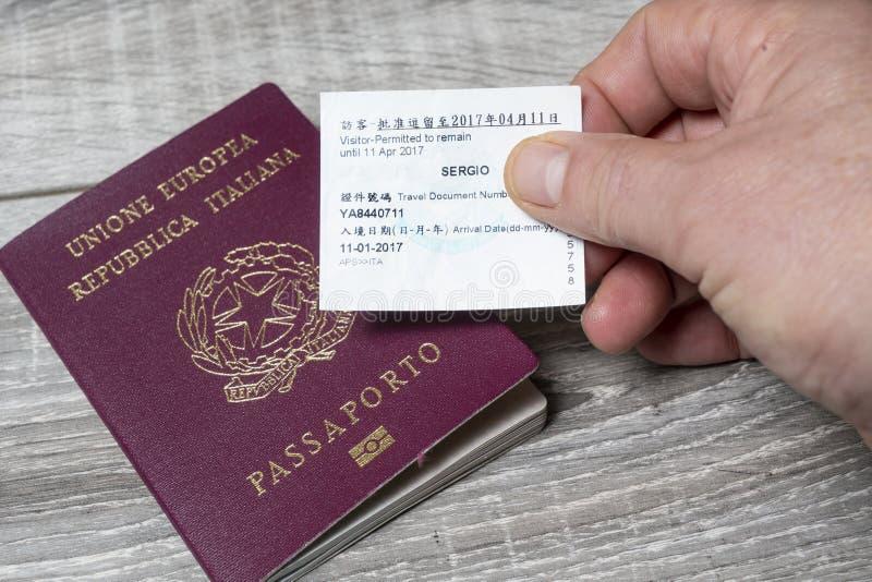 Visa de Hong Kong fotografía de archivo libre de regalías