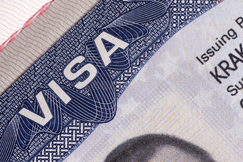 Visa document royalty free stock photos