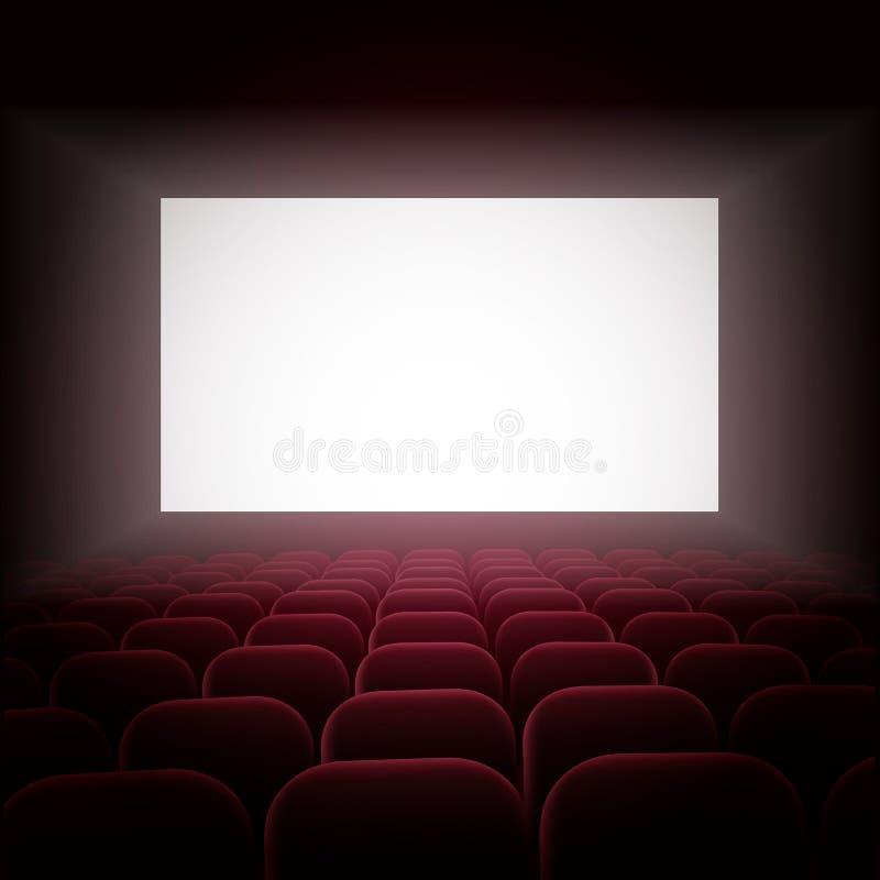Visa filmen stock illustrationer