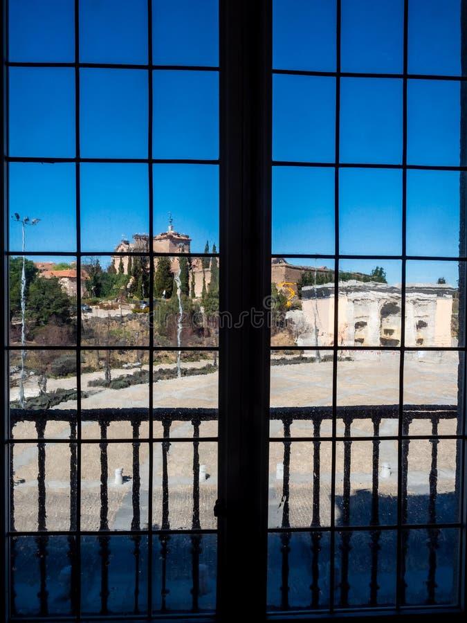 Visa från ett fönster royaltyfri fotografi