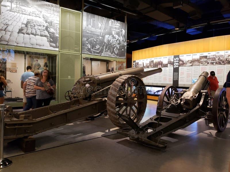 Visa i museet Kansas Missouri för världskrig I royaltyfri foto