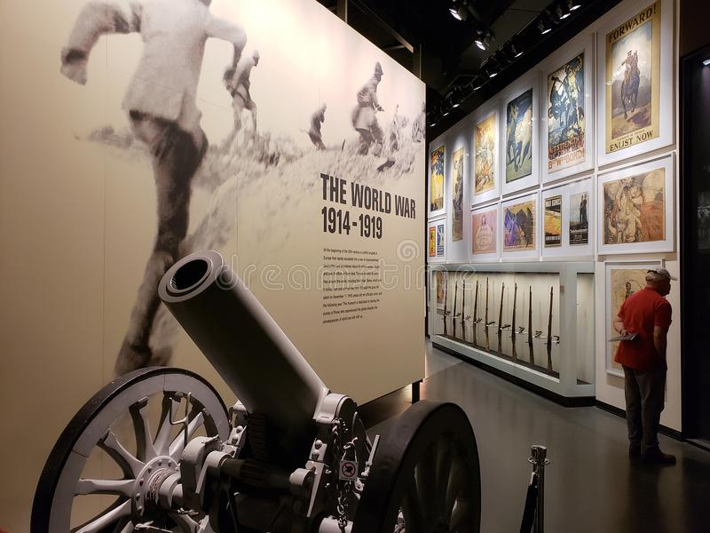 Visa i museet Kansas Missouri för världskrig I royaltyfria foton