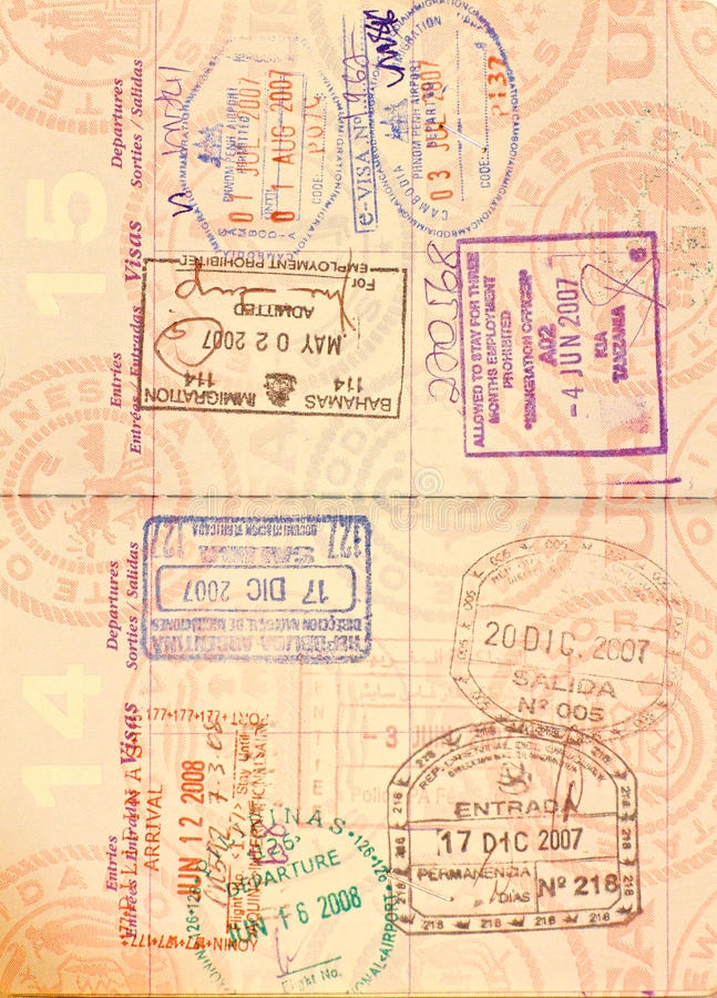 Free Visa In US Passport Stock Photography - 12202352