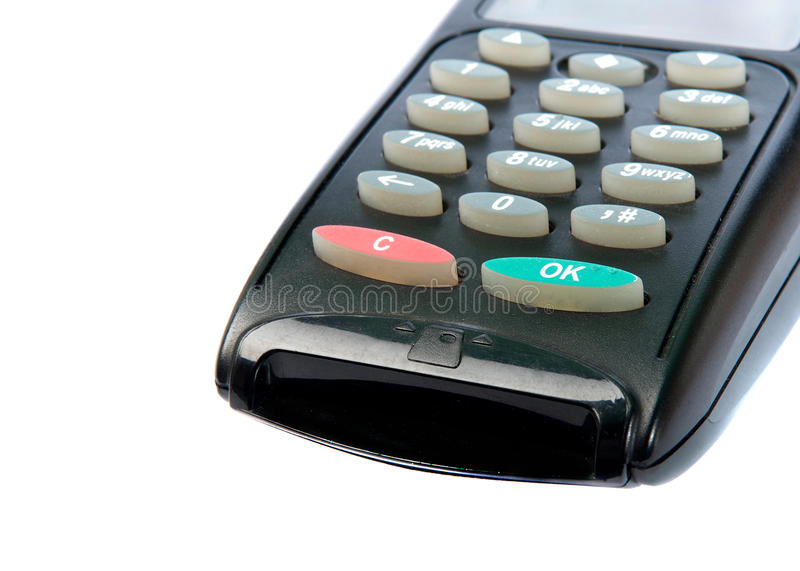 Visa Keyboard Machine Royalty Free Stock Photography