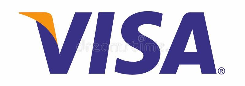 Visa. Logo isolated. Vector trace from photo