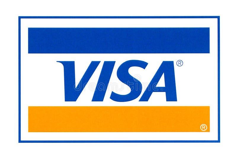 Visa logo printed on the paper. Chisinau, Moldova - September 19, 2018: Visa logo printed on the paper and placed on white background.Visa - American royalty free stock photos