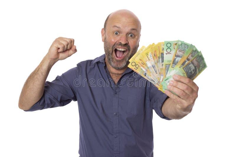 Visa mig pengarmannen royaltyfri foto
