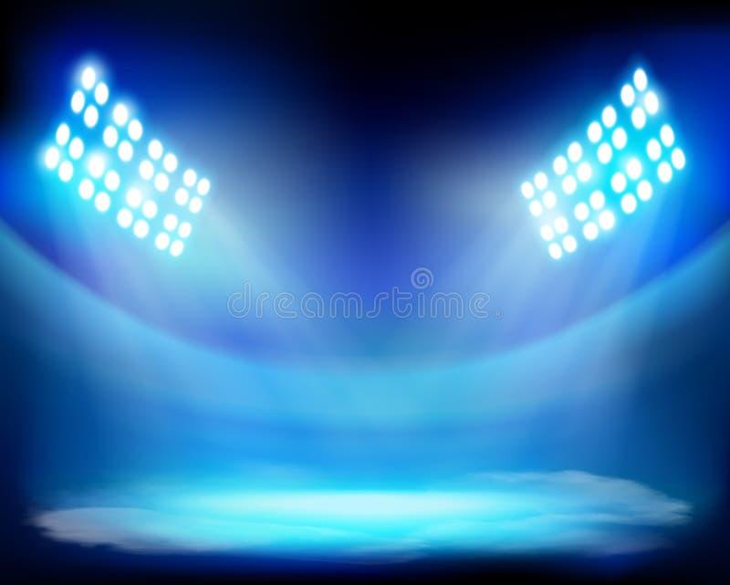 Visa på stadion också vektor för coreldrawillustration royaltyfri illustrationer
