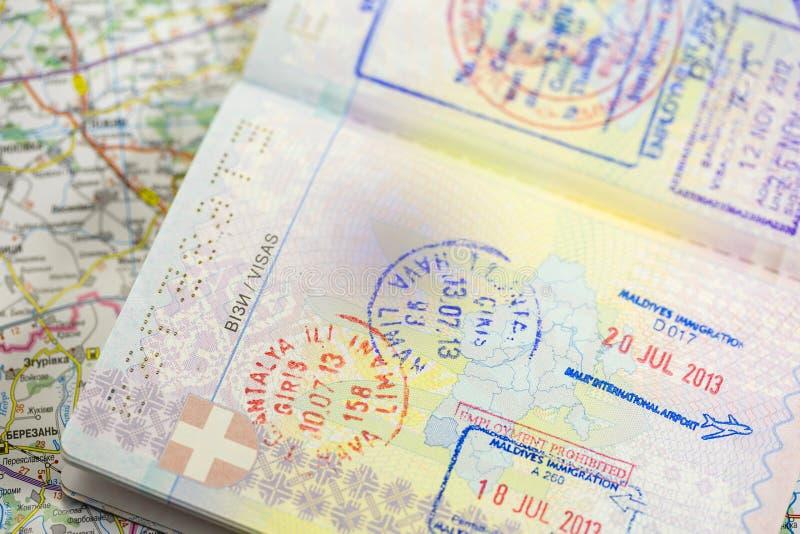 Visa stamp royalty free stock image