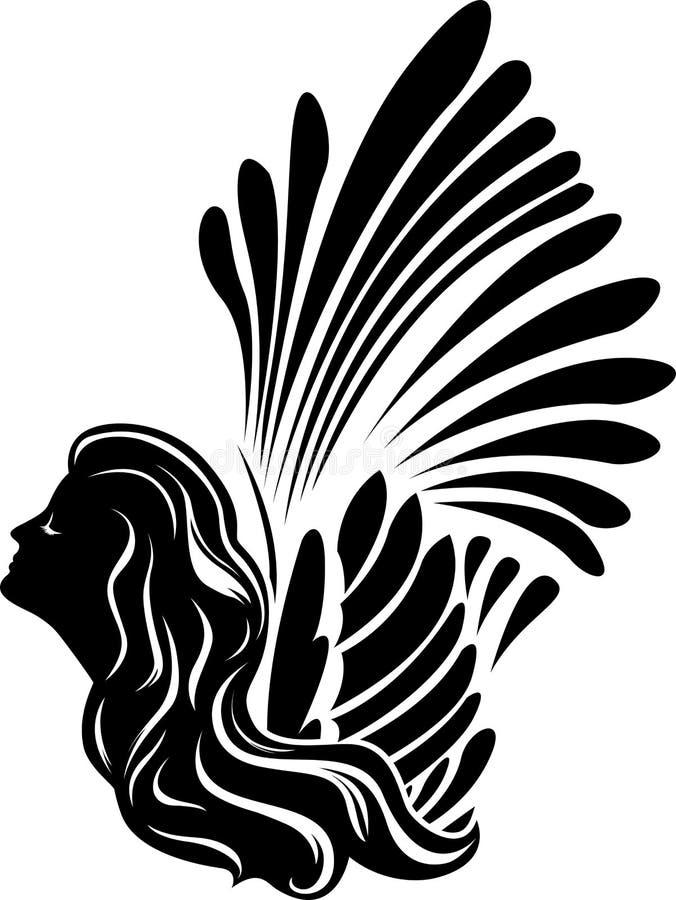Visage à ailes de muse illustration stock