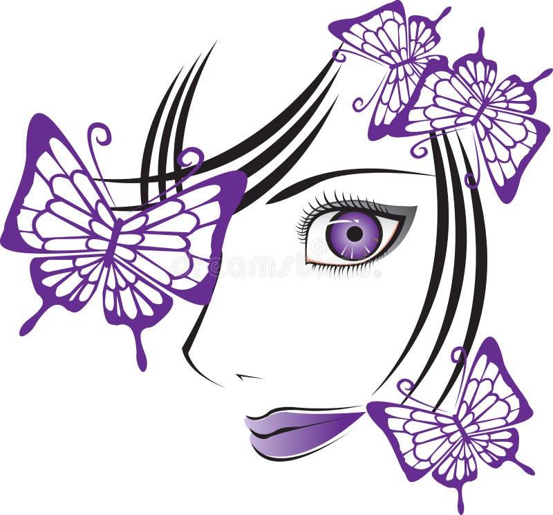 Visage illustration stock