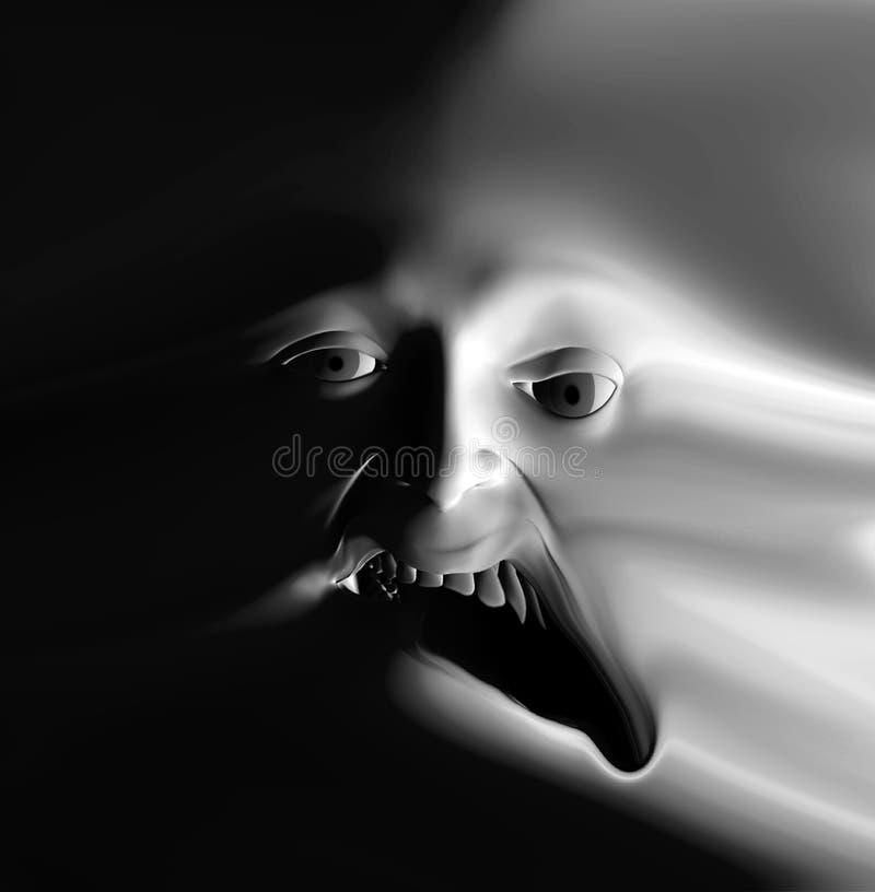 Visage 30 d'horreur illustration stock