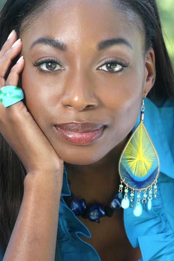 Visage africain de femme photo libre de droits