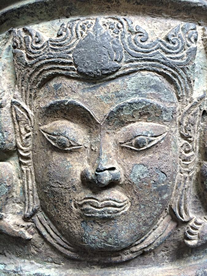 visage antique de cheveux de stuc photos stock