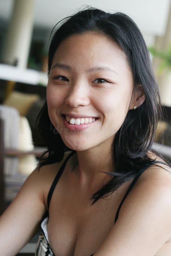 Visage asiatique photo stock