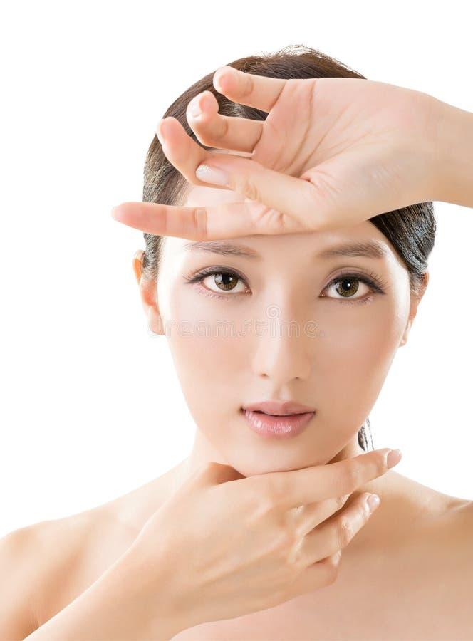 Visage asiatique de beauté photo stock
