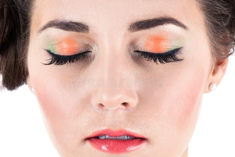 Visage avec le maquillage photo libre de droits