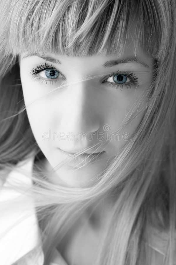 Visage blond de femme de beauté photo stock
