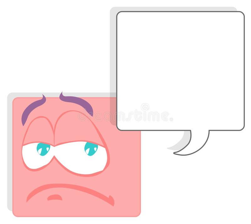 Visage carré illustration de vecteur