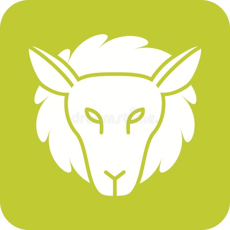 Visage d'agneau illustration libre de droits