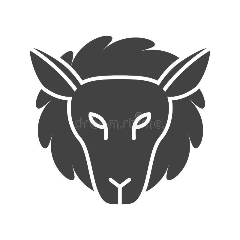 Visage d'agneau illustration de vecteur