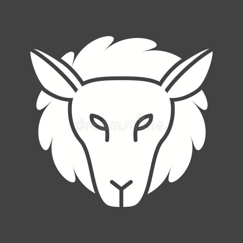 Visage d'agneau illustration stock