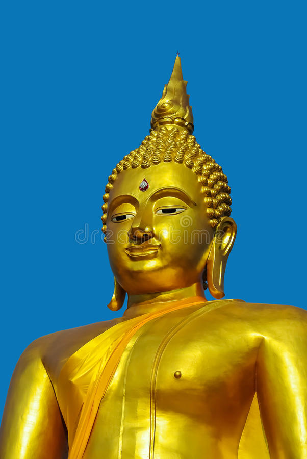 Visage d'or de Bouddha photo stock