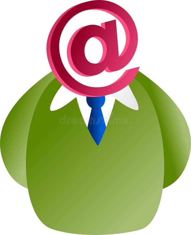 Visage d'email illustration stock