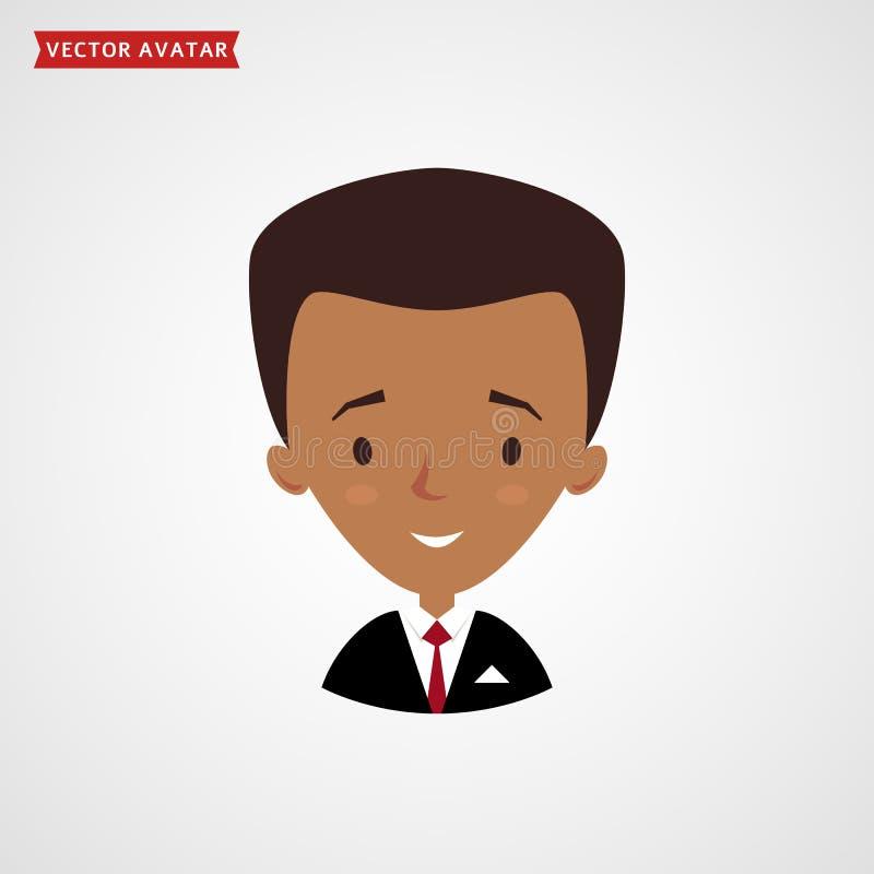 Visage d'homme de couleur Avatar d'homme d'affaires illustration libre de droits