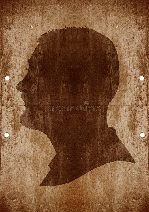Visage d'homme sur le fond grunge illustration de vecteur