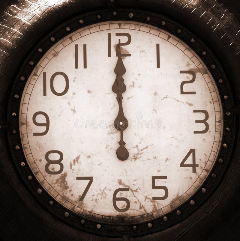 Visage d'horloge antique images stock