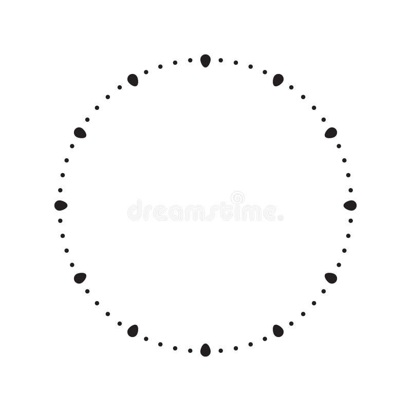 Visage d'horloge Cadran vide d'heure, illustration de vecteur illustration stock