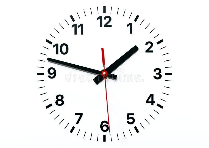 Visage d'horloge murale avec l'heure, la minute et les occasions illustration libre de droits