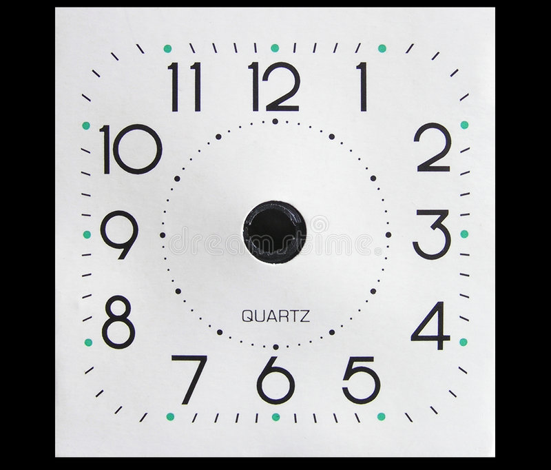 Visage D Horloge Sans Mains Photos stock