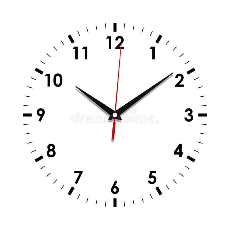 Visage d'horloge sur le blanc illustration libre de droits