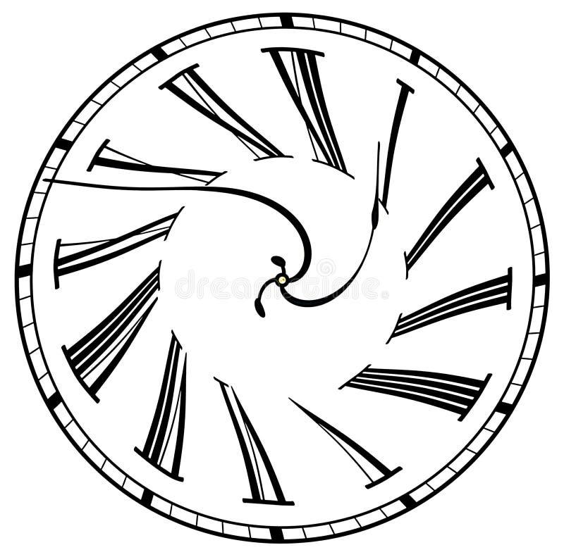 Visage d'horloge surréaliste illustration libre de droits