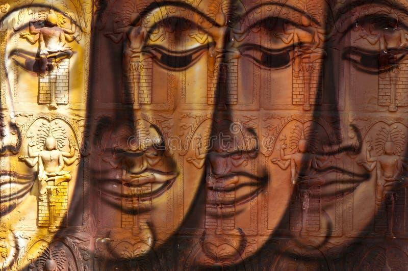 Visage d'image de Bouddha images libres de droits