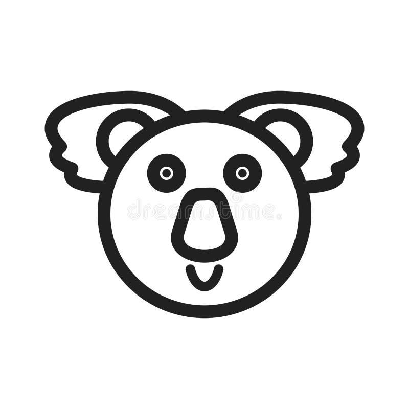 Visage d'ours de koala illustration de vecteur