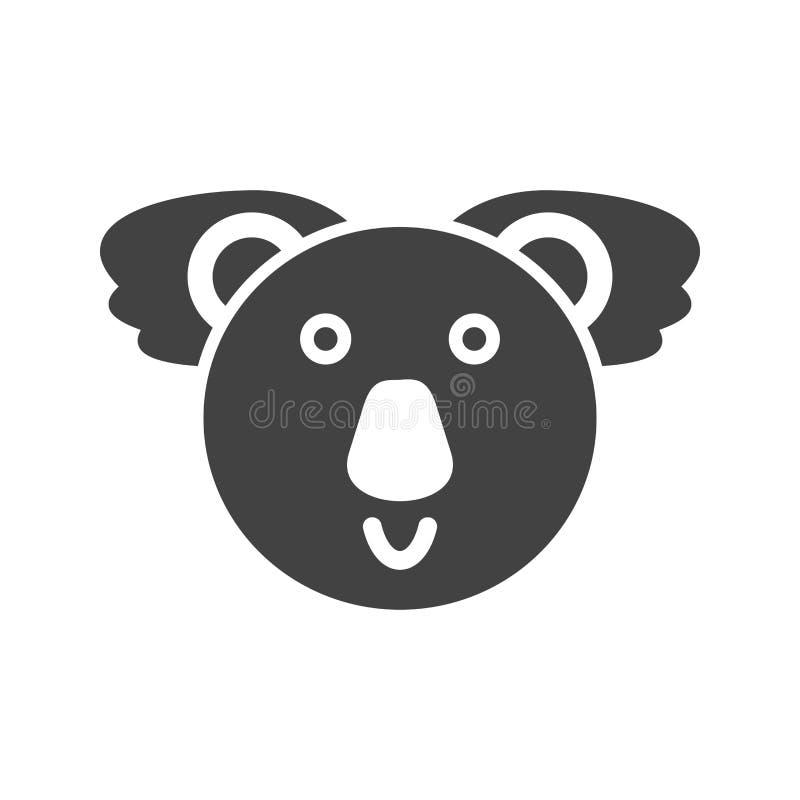 Visage d'ours de koala illustration libre de droits