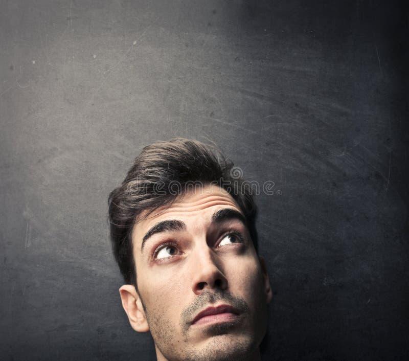Visage d'un homme photo stock