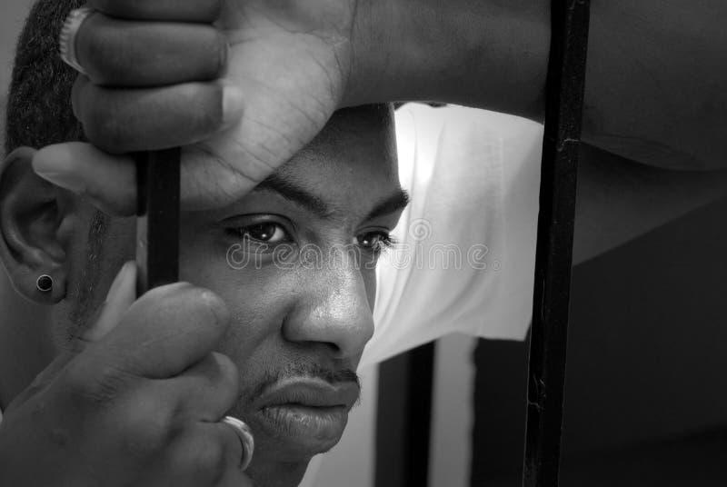 Visage d'un homme fâché d'afro-américain photographie stock