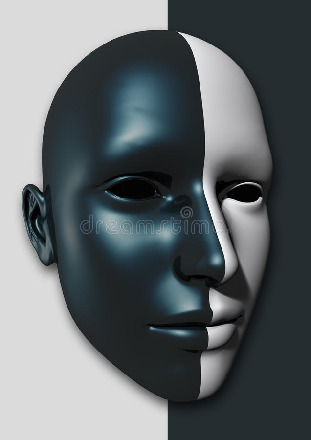 Visage d'un mannequin illustration libre de droits