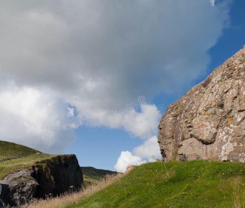 Visage dans la côte du nord de roche d'Irland photographie stock