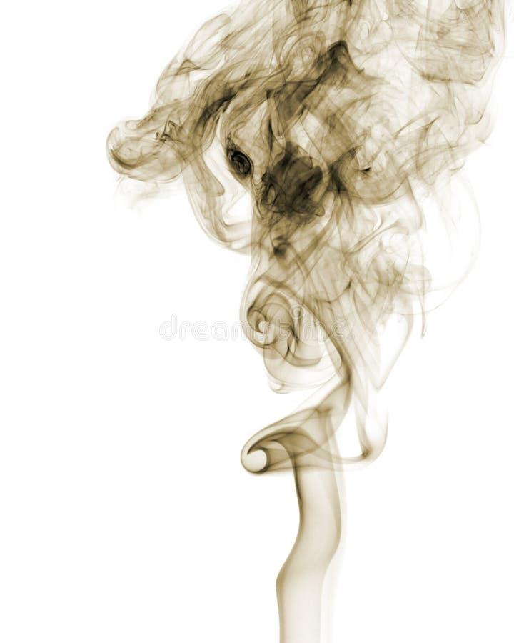 Visage dans la fumée images libres de droits