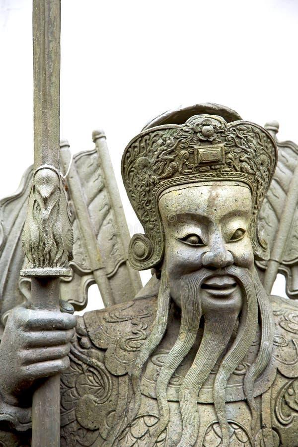 visage dans le temple Bangkok Asie photographie stock