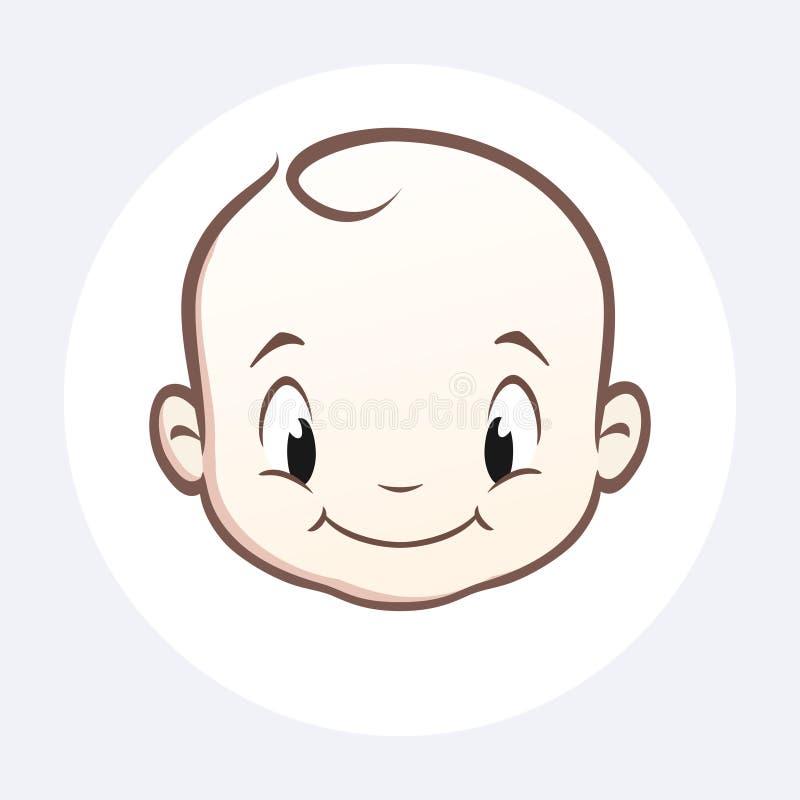 Visage de bébé de bande dessinée illustration de vecteur