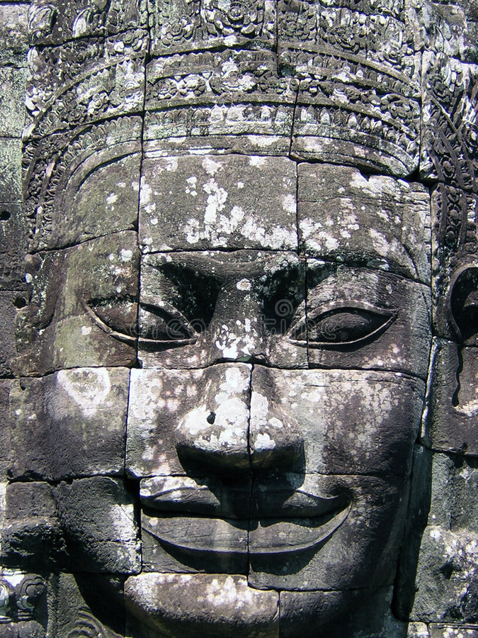 Visage de Bayon photo stock