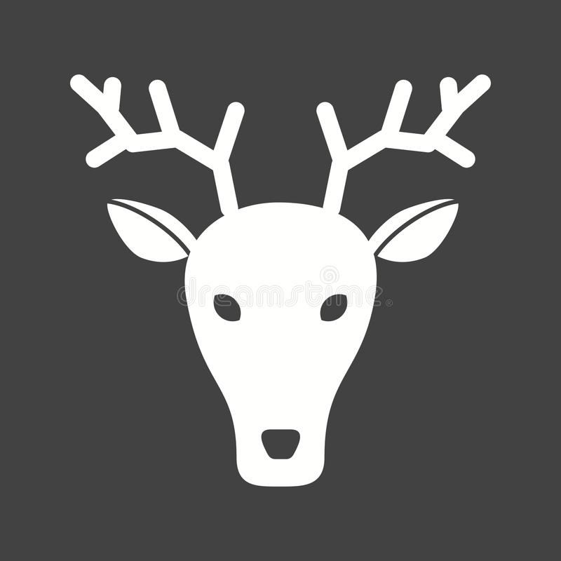 Visage de cerfs communs illustration libre de droits