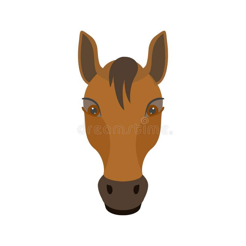 Visage de cheval illustration stock
