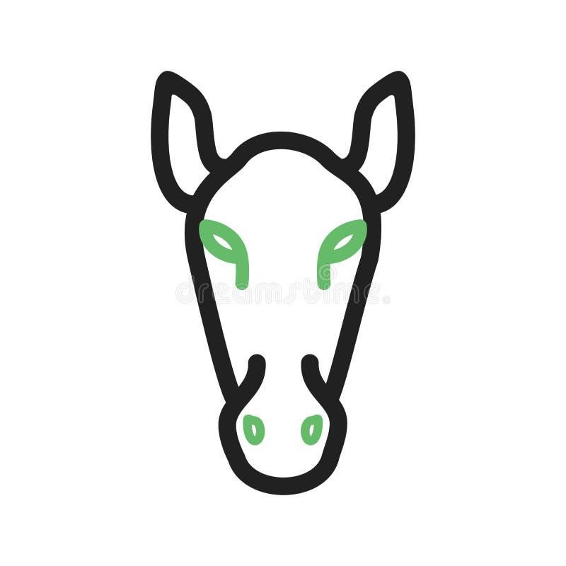 Visage de cheval illustration de vecteur